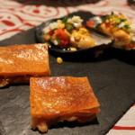 塩鱈のエンパナーダとムール貝のビナグレッタ