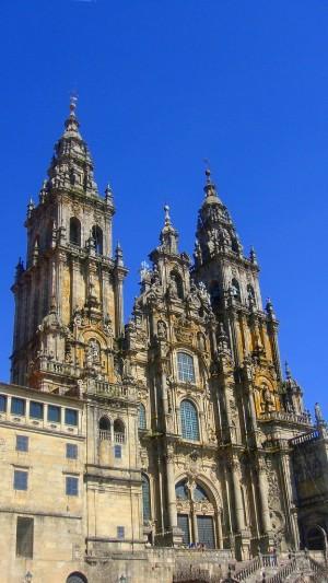 影さえも美しい、サンティアゴ・デ・コンポステラ。