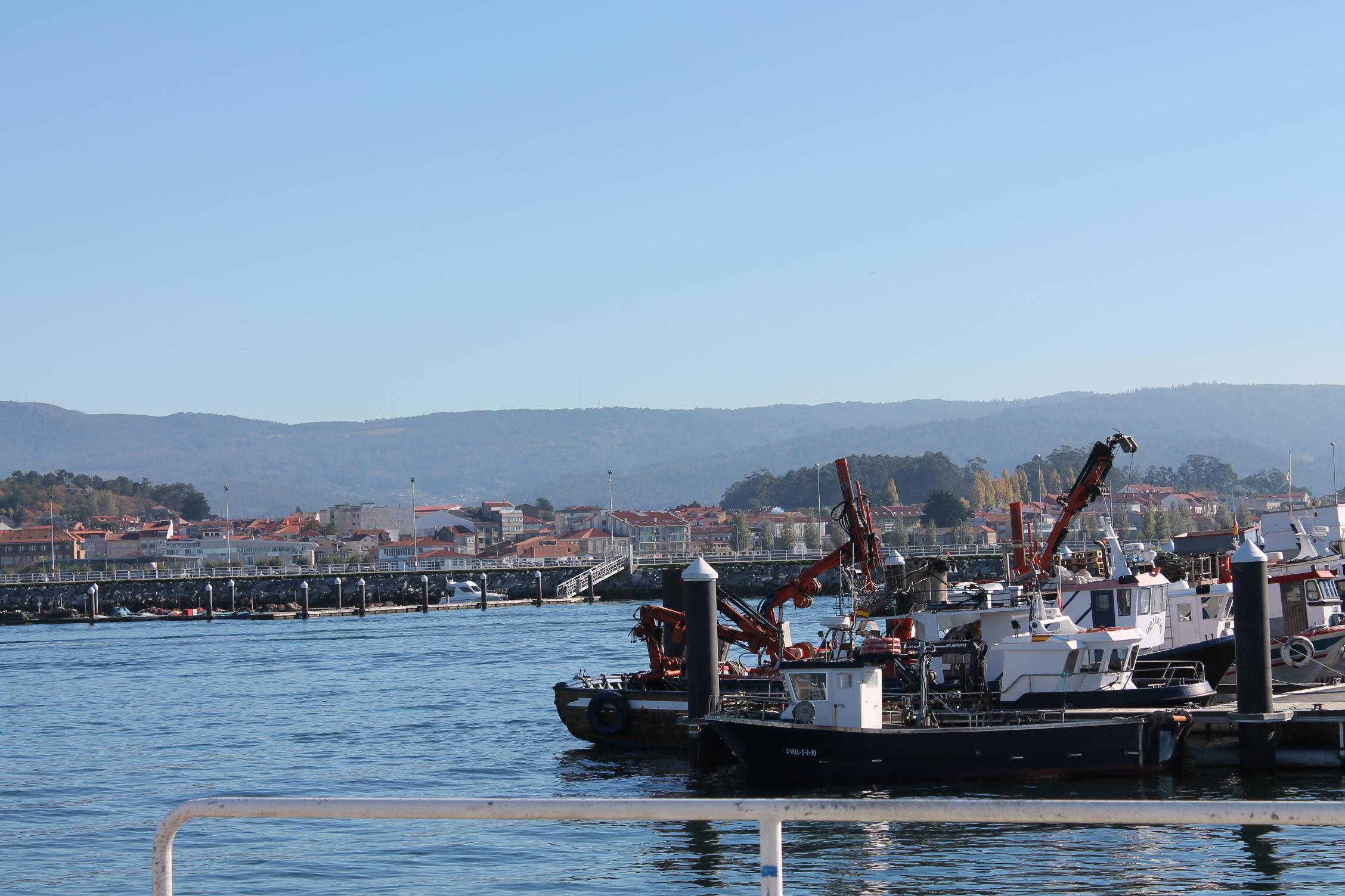 タコの漁船 リアスバイシャスの港