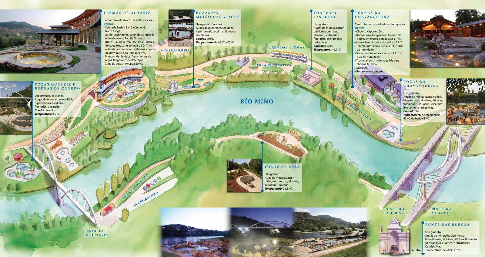 オウレンセ 温泉 地図
