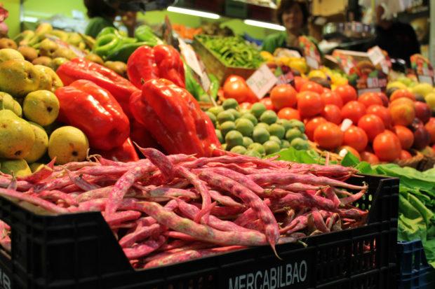 ビルバオ 市場 野菜