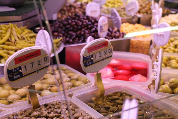 ビルバオ 市場 オリーブ