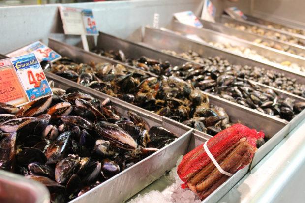 ビルバオ 市場 ムール貝