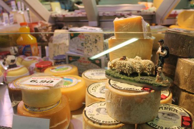 ビルバオ 市場 チーズ