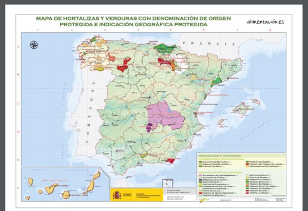 スペインの野菜地図