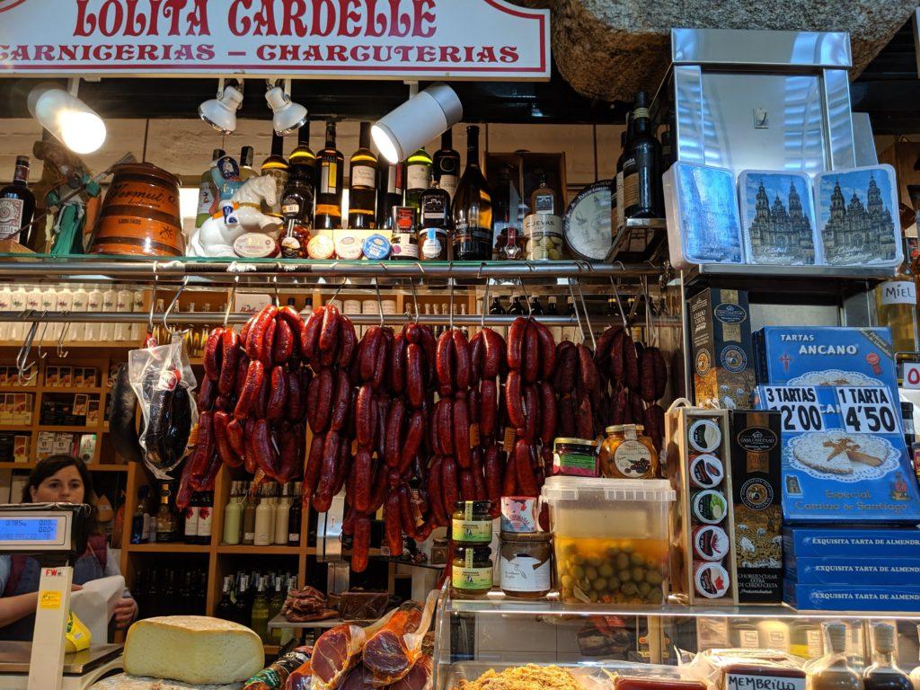 サンティアゴ・デ・コンポステーラ 市場 肉屋