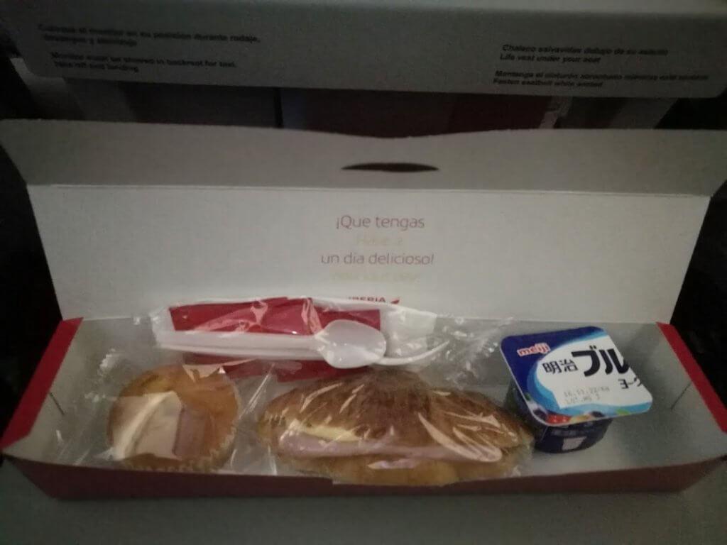 スペイン直行便 機内食