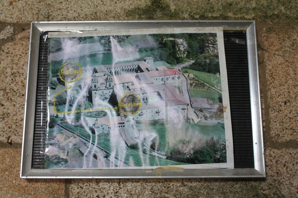 ガリシア地方 オウレンセ オセイラ修道院 上空からの写真