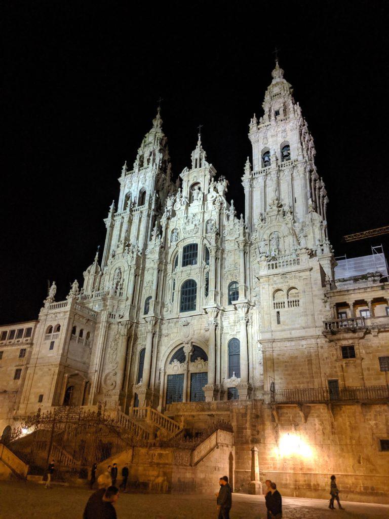 サンティアゴ・デ・コンポステーラ 大聖堂 夜
